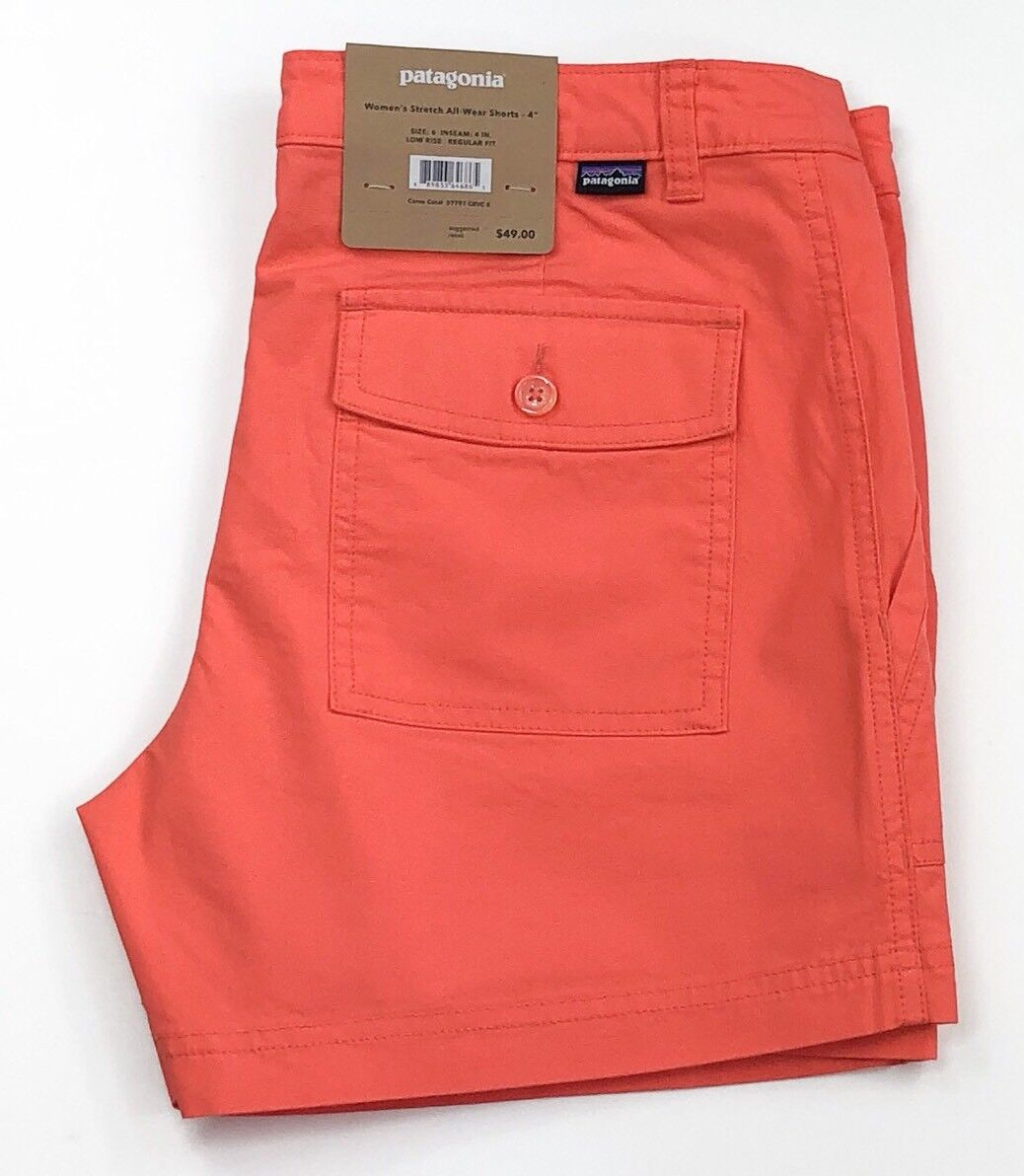 Patagonia Women's Stretch All-Wear Carve Coral Shorts-4""