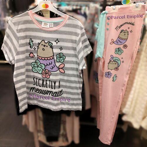 Officiel Pusheen the Cat PJ T-shirt Leggings pyjama meowmaid Cadeau Kitty Pyjama