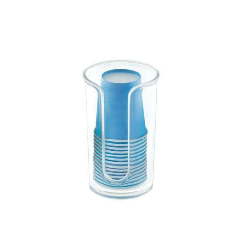 mDesign Modern Plastic Compact Small Disposable Paper Cup Dispenser ...