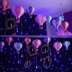 1x-12-034-Kids-Rainbow-Hot-Air-Balloon-Papier-Lanterne-Abat-Jour-Plafonnier-Abat-jour