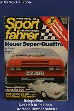 Sportfahrer 10/83 TVR Tuscan 500 SEC Cabrio Zender Visi