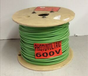 Encore Wire PhotovoltAIC 500\' Green 10AWG 600v Wet/Dry Solar Cable ...