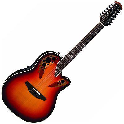 Musical Instruments & Gear Ovation Estándar Elite 2758ax-neb 12-cuerdas Guitarra Electro-acústica Guitarra Special Summer Sale