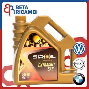 Olio-motore-Siroil-5W40-5W-40-tanica-da-5-Litri-per-motori-VW-Opel-BMW