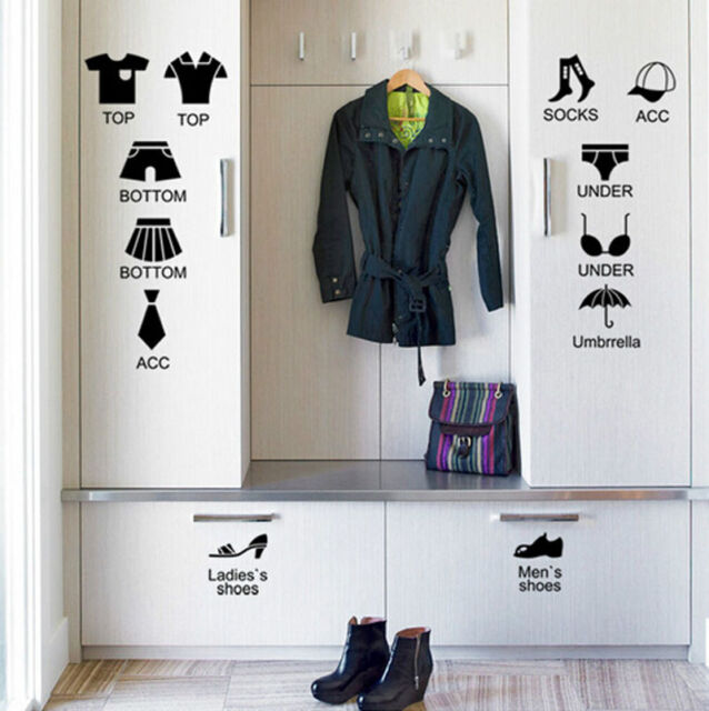 Removable Stickers For Clothes Organizer Cabinet Drawer Bedroom Decorative Decor