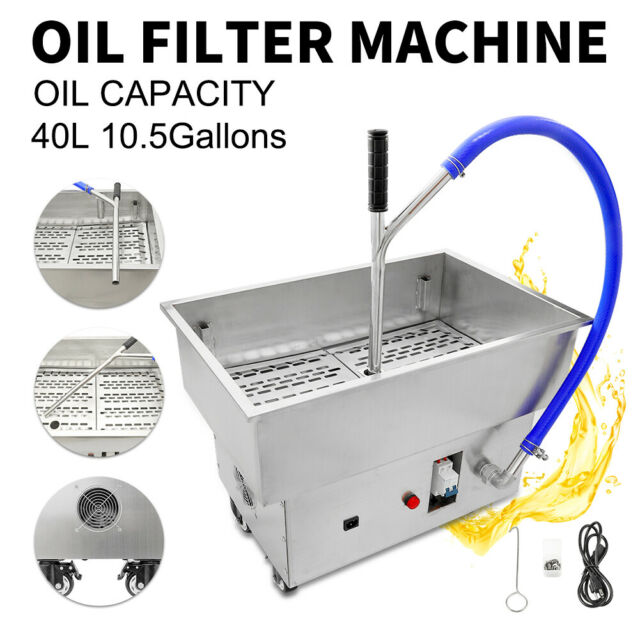 40L Oil Filter Oil Filtration System Filtering Machine Frying Oil Fryer Filter