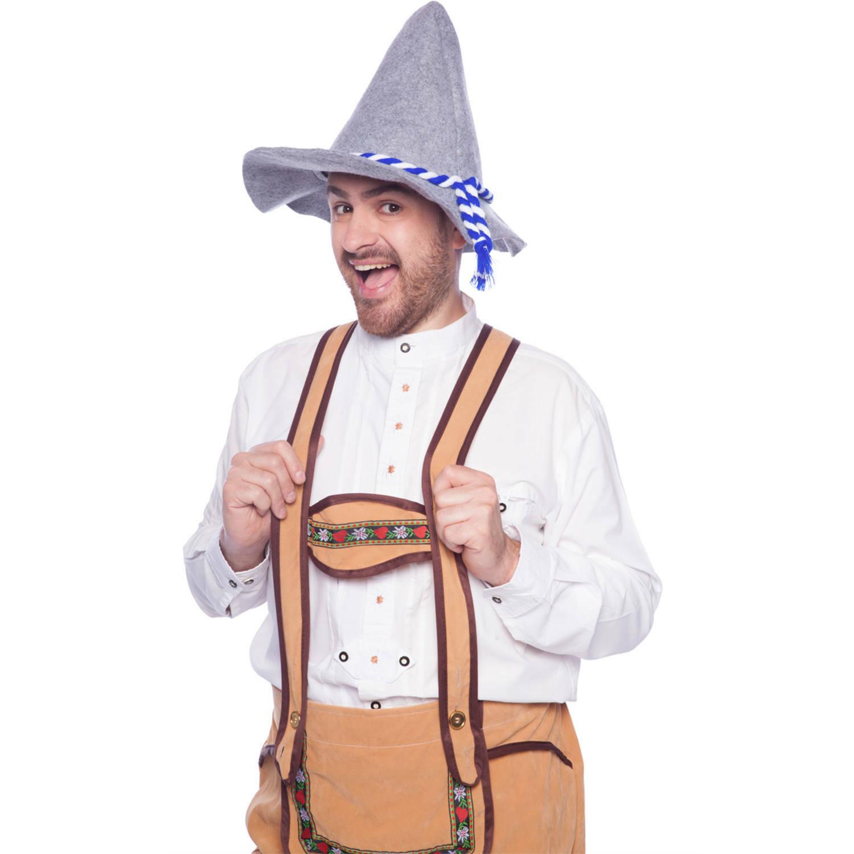 Seppelhut für OktoberfestTrachten Filz Hut für WiesnSepplhut Zipfel Bayern