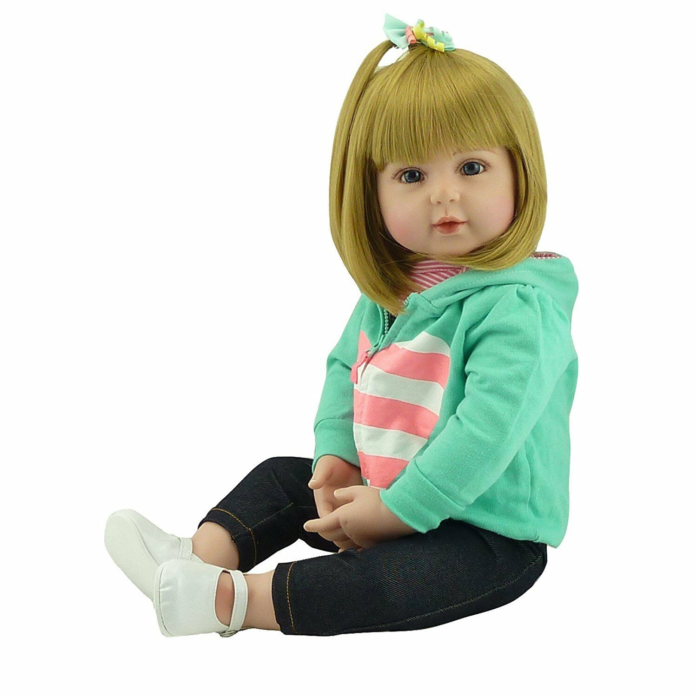 24  60cm Reborn Baby Girl Dolls Realistic Looking 3-6M Newborn Baby Doll Toddler