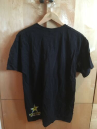 NEW SIZE XS M L XL black graphic ROCKSTAR Energy Drink Promo Tee T Shirt
