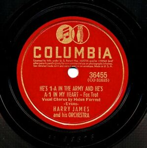 HARRY-JAMES-on-1941-Columbia-36455-He-s-1-A-in-the-Army-and-A-1-in-My-Heart