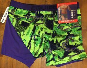 NWT EQUIPO Microfiber Brazilian Trunks Boxer Briefs Men/'s Large L Black//Gray