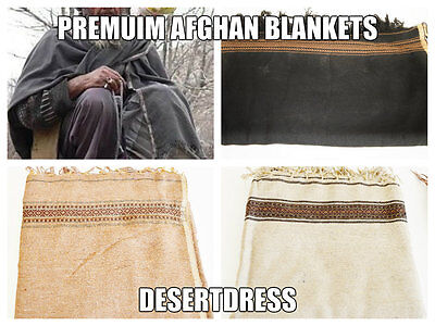 2-tlg Pakul Afghan Lol Decke Schal Halstuch Hut Dick Herren Damen Handgefertigt