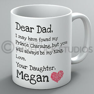 Image Is Loading Personalised Dear Dad My King Mug Father 039