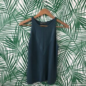 By Anthropologie Blue Ribbed High Neck Tank Top Women's Sizs XS