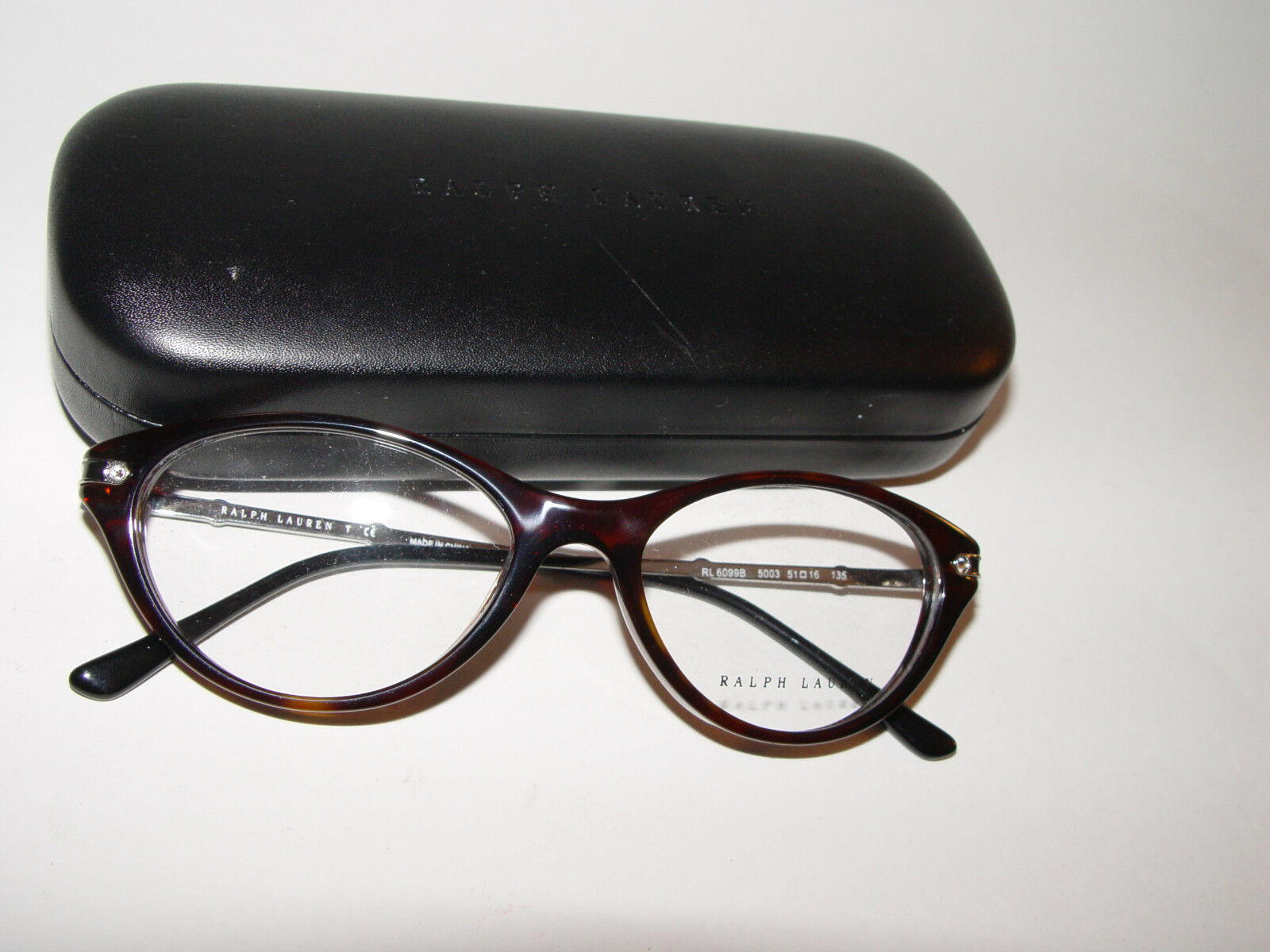 NEW Ralph Lauren RL 6099B Dark Havana 5003 Crystals FRAME EYEGLASSES 51mm 16 135