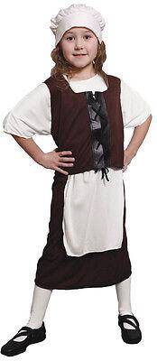 GIRLS TUDOR POOR SERVANT GIRL FANCY DRESS COSTUME