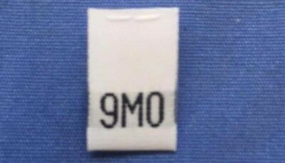 25 pcs BLACK TODDLER CHILD TAFFETA WOVEN CLOTHING SIZE TAG LABELS 4T