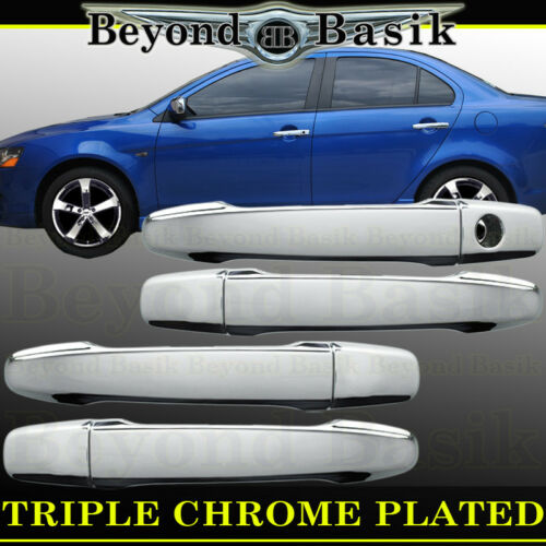 2008-2017 Mitsubishi OUTLANDER Chrome Door Handle Covers Overlays Trims No SmrtK