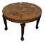 VERY-RARE-ANGLO-INDIAN-ROSEWOOD-CARVED-ROUND-DINING-TABLE-ELEPHANT-CARVED-INLAY thumbnail 1