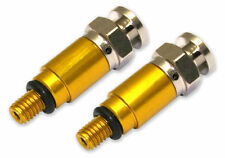 NEW SUZUKI FORK BLEEDERS AIR VALVES SHOWA KAYABA GOLD RM RMZ DRZ 80 125 250 450
