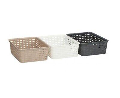 1 Plastic Handy Basket Storage Basket Great for Bathrooms,Bedroom and Kitchen-25cm- silver