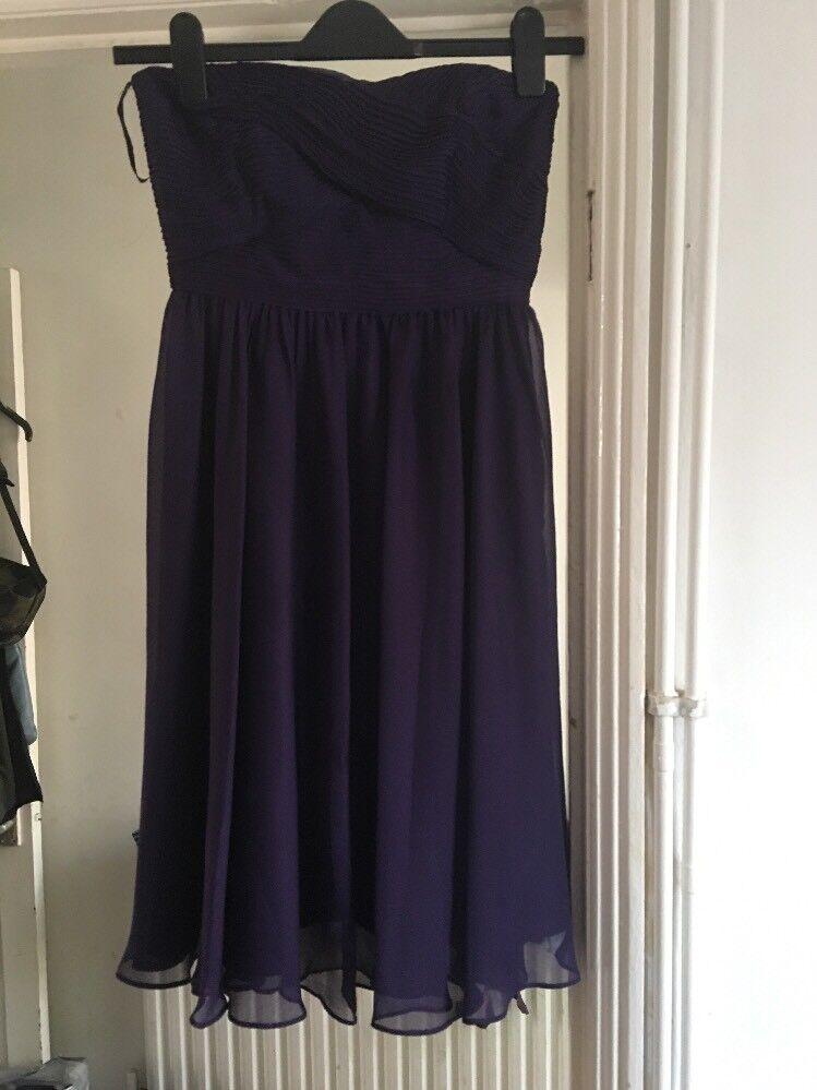 BNWT Coast Size 8 Costa Short Dress Purple Detachable Straps RRP