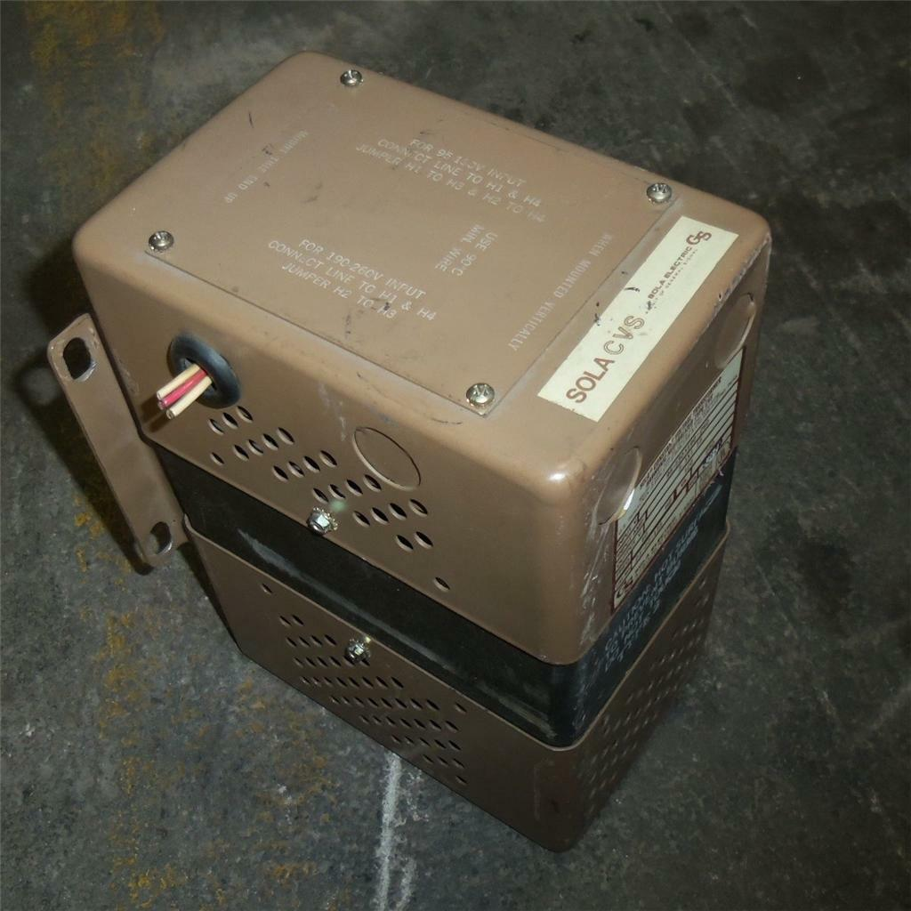 SOLA ELECTRIC 120V, 3.1X1.55A, 60Hz, CONSTANT VOLTAGE TRANSFORMER 23-22-125