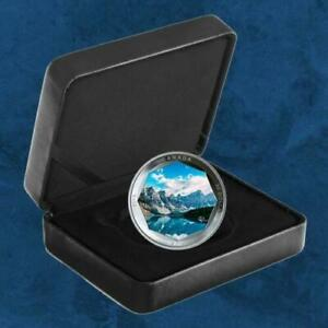 Details About 2019 Moraine Lake 30 Pure Silver Coin Canada Peter Mckinnon Photo Serial 1