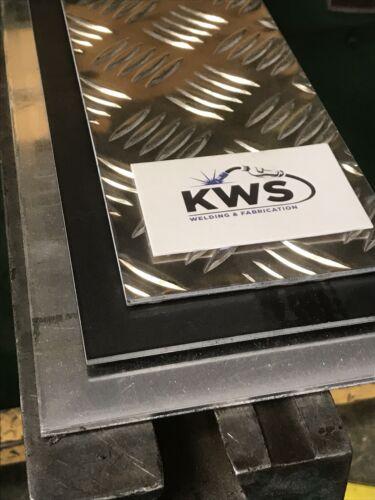 Aluminium Chequer plate Kick Plate 1000x100x2mm thick Not An Off-cut Brand New!