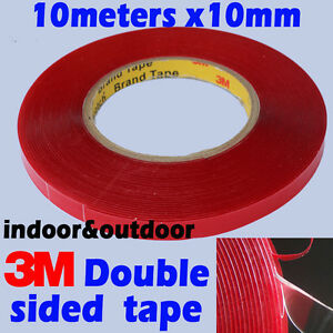 3m double sided acrylic gel tape vhb 7302 10mmx10meter removeable heavy duty ebay. Black Bedroom Furniture Sets. Home Design Ideas