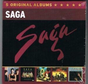 SAGA-5-ORIGINAL-ALBUMS-5-CD-NEU