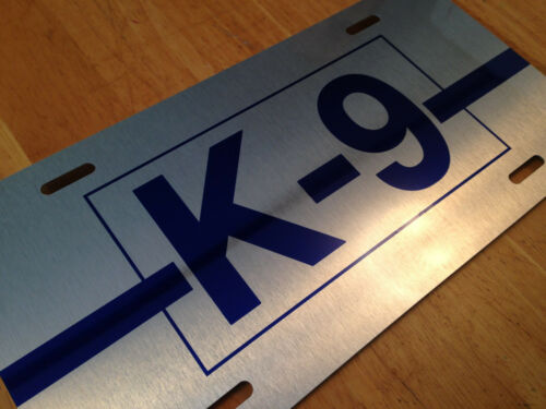 K-9 Police License Plate Law Enforcement Thin Blue Line Canine Dog Auto Tag Sign