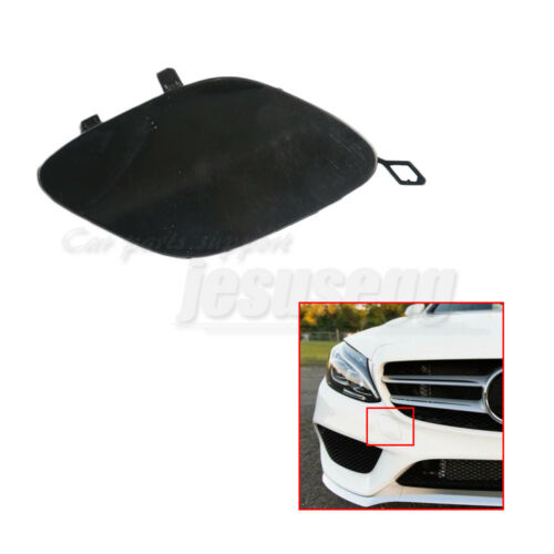 Front  Primed Bumper Tow Hook Cover Trim For Mercedes Benz C-Class W205 2015-16