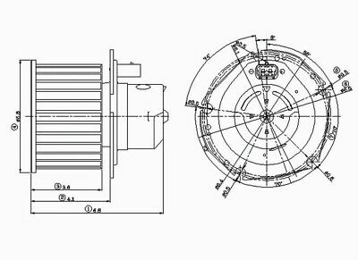 HVAC Blower Motor Front TYC 700046