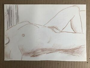 Male Nude Drawing By Chicago Artist James Bone 1929-2015 Gay Int
