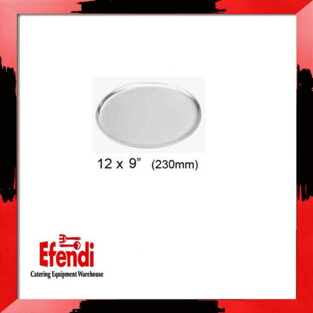"""12 x 9"""" (230mm) Aluminium Pizza Tray / Plate"""