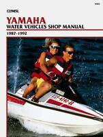 Clymer Yamaha Sj Wj Wr Wra 500 650, 1987-92 Pwc Water Vehicles Shop Manual W805