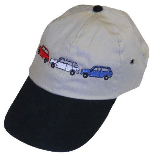 white blue embroidered hat Classic MINI red