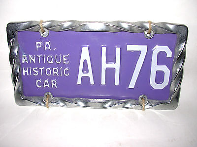 \u0027PA. ANTIQUE HISTORIC CAR\u0027 LICENSE PLATE WITH ALUMINUM DECORATIVE FRAME · \u0027 & Vintage PA Plates collection on eBay!