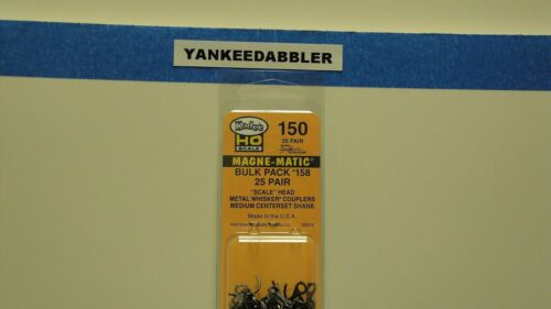 HO Scale Kadee #150-25 Bulk Pack 25 Pair #158 Scale Whisker Coupler