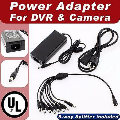 UL 12V 5A DC Power Adapter /& Plug for IR Security Cameras CCTV Security DVR EMI