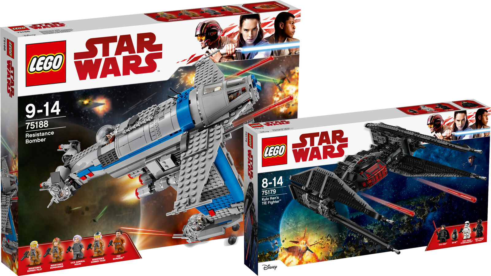 LEGO ® Star Wars First Order Heavy Assault Walker 75188 75179 TIE Fighter
