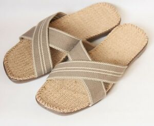 7cec8cc5e64e2 Details about LOHAS Jute Hemp Flax Natural Sandals Slippers Flip Flops  Slides - men(SX15br)