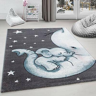 Kids Baby Elephant Rug Nursery Stars