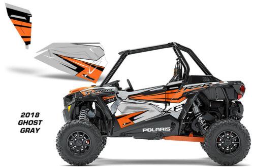 AMR Racing Graphic Wrap Kit Polaris RZR 1000 UTV OEM Door Insert 2018 GHOST GRAY