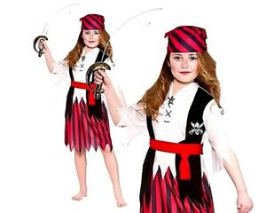 Pirate Girls Fancy Dress Costumes Childrens Kids Book Week Halloween Ages 3-13