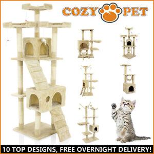 Cozy Pet Cat Trees Scratching Post Heavy Duty Sisal Kitten Activity Center Tree