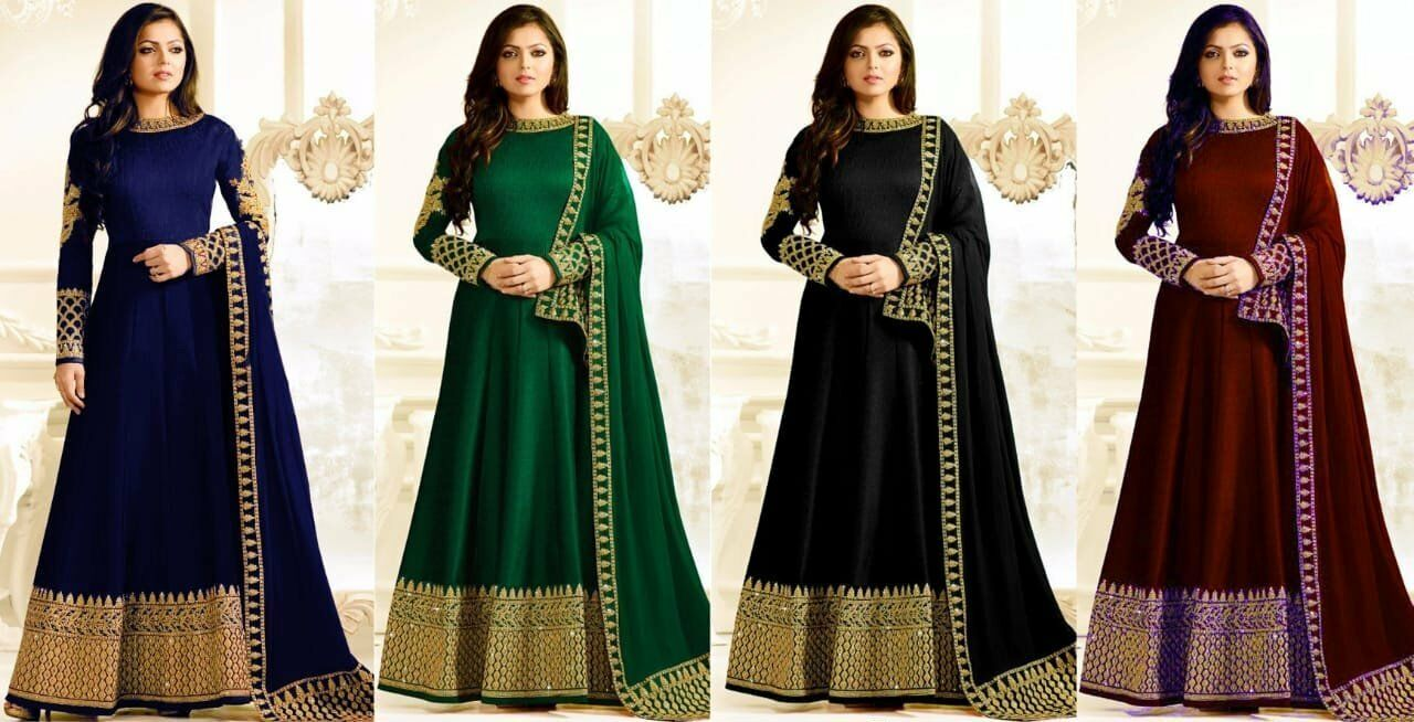 Salwar Kameez Suit Designer Bollywood Anarkali Party Wear Indian Salwar Suit KB