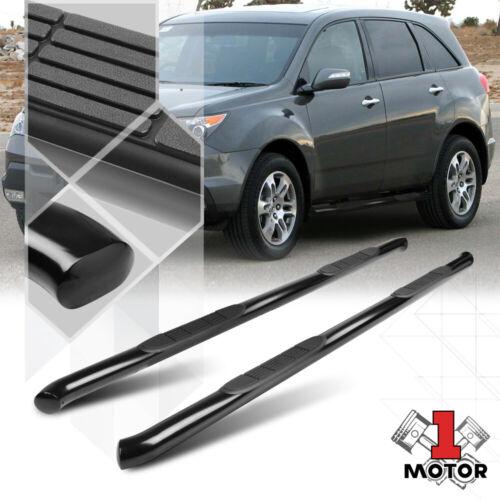 "Black 3/"" Steel Round Tube Side Step Nerf Bar Running Board for 07-13 Acura MDX"