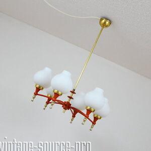 exklusive-50er-Jahre-Messing-Opalglas-Stab-Sputnik-Deckenleuchte-Spinnenlampe